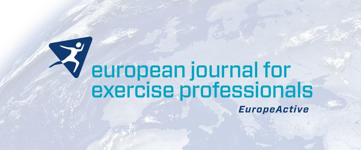 European journal for Exercise Professionals